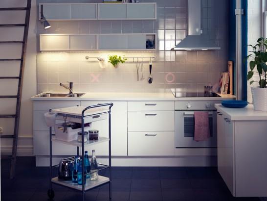 厨房间装修效果图,宜家厨房告诉你