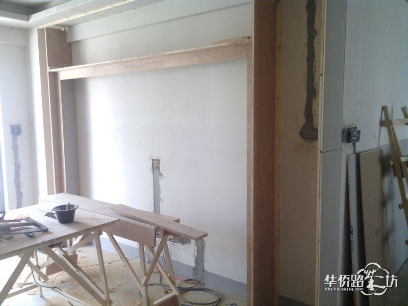 电视背景墙的木工框架