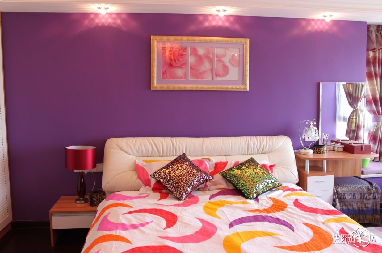 【我家的紫色空间】还有入墙衣柜+象牙白橱柜衣柜