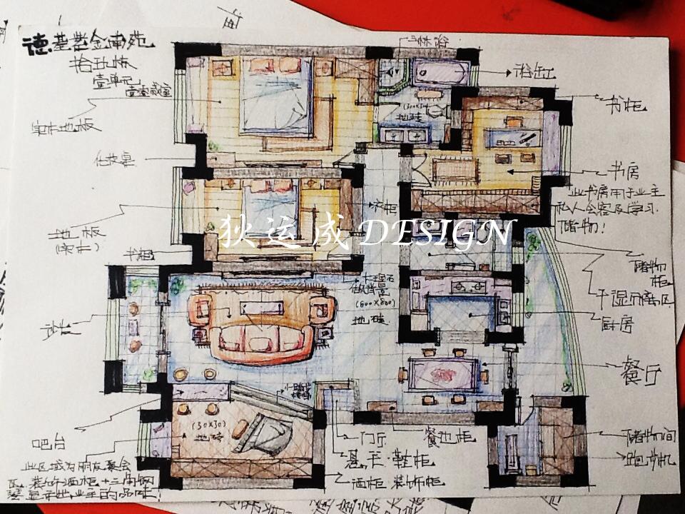 房子手绘户型图怎么画