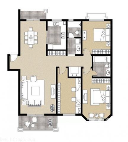 五里墩绿景家园 地铁2号线颐和校区 精装三房116平175万低价急售