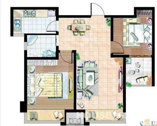 12乘以12的房子设计图