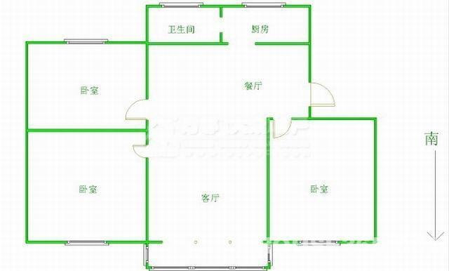 人民医院地铁口五星家园27楼商品房精装3室2厅1卫急售朝南大客厅