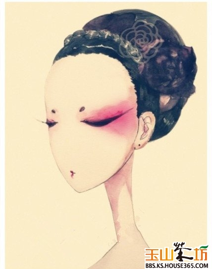 > 手绘女头像