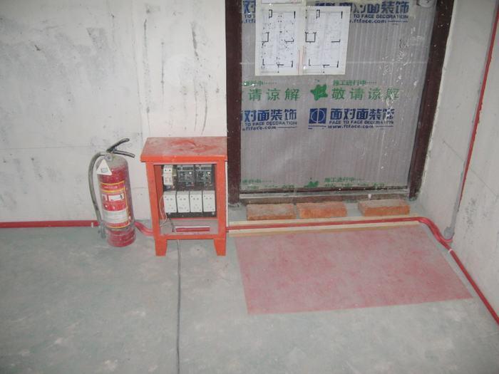 工地水电预埋图纸高清图片 室内装修水电设计图纸 建筑预