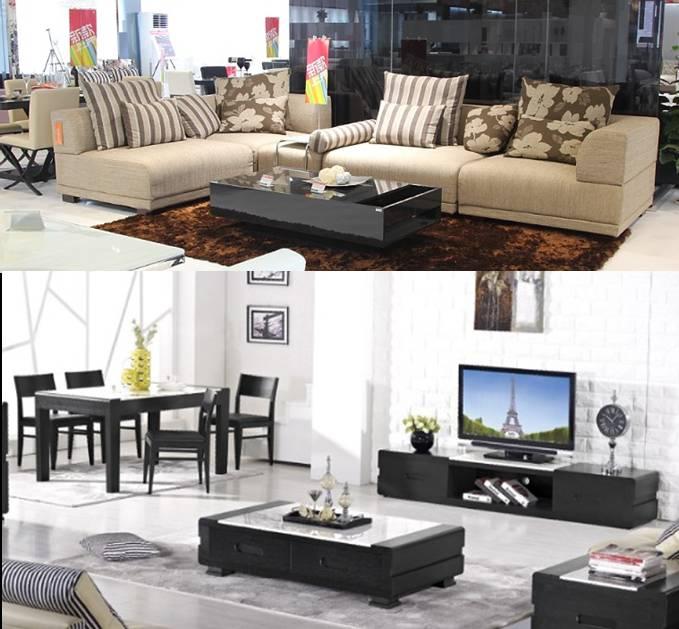 欧宝家居-788d沙发 227茶几电视柜 1桌4椅图片