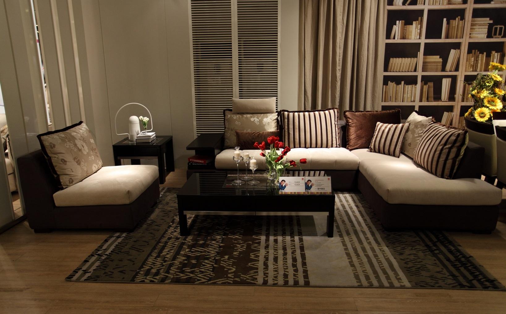 韩式白油木加布艺沙发图片大全