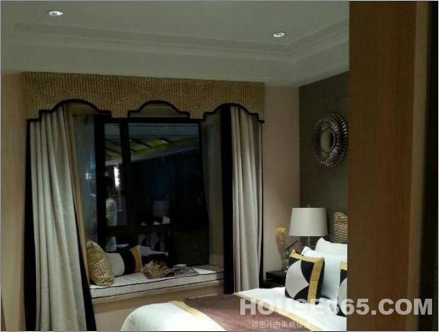 一点透视卧室飘窗手绘