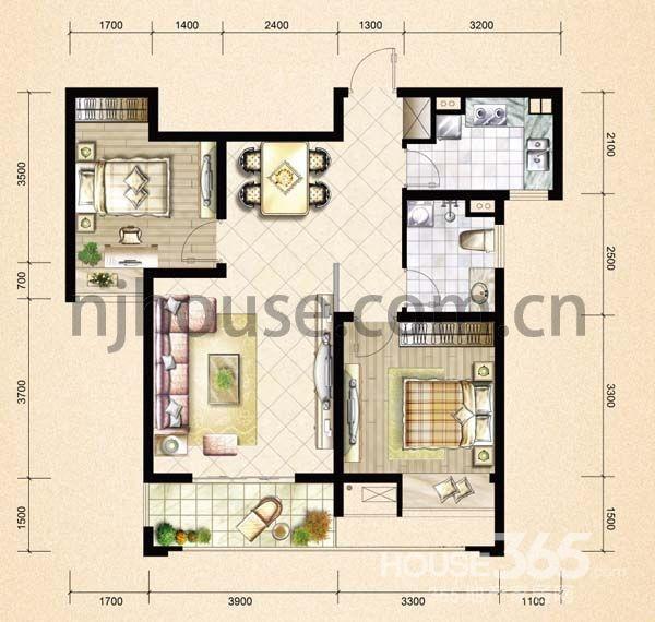 【安格佳优质房】地铁沿线隧道出口 婚装小户型两房 独家朝南花园