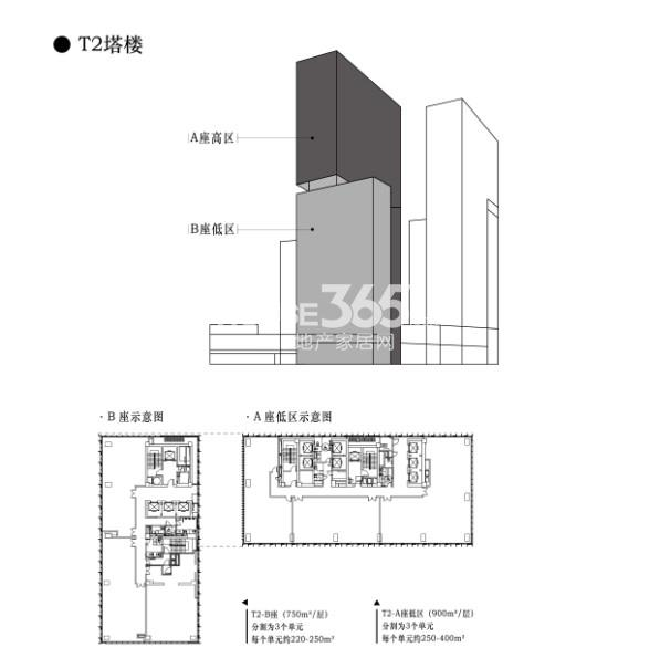 t2塔楼 a,b座低区户型图