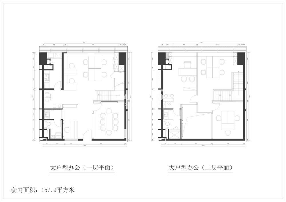清江苏宁广场157㎡办公房源户型(10.25)