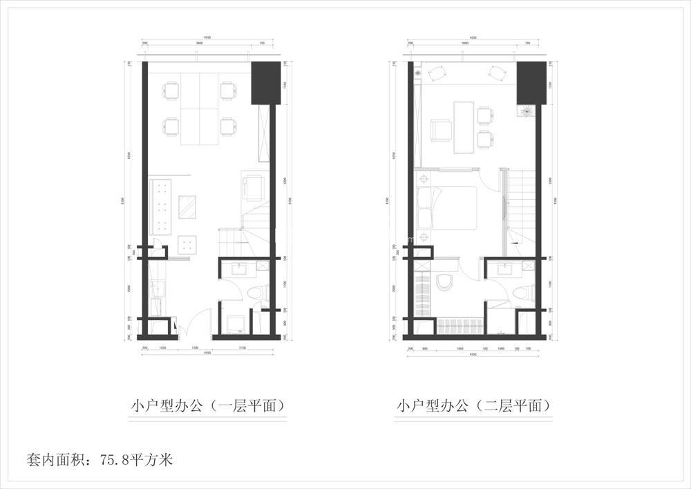 清江苏宁广场75㎡办公房源户型(10.25)