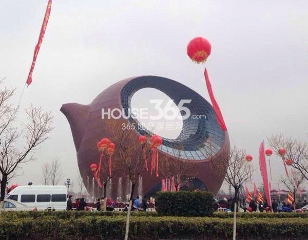无锡万达文化旅游城展示中心实景图(2014.2.28 摄)