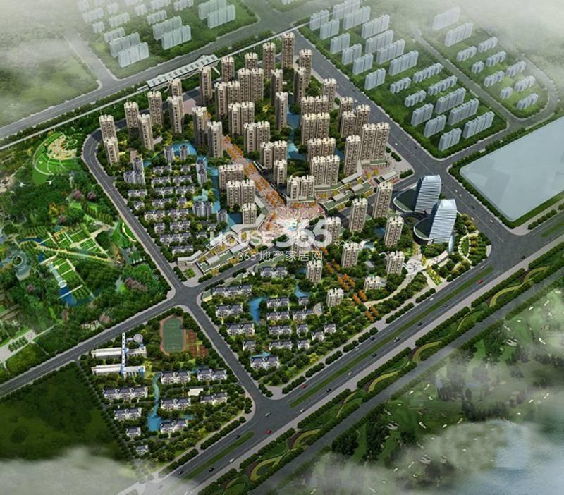 德杰国际城全景鸟瞰图