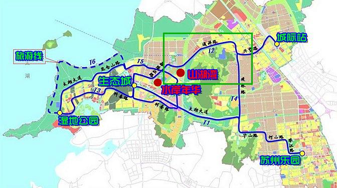 苏州街区手绘地图