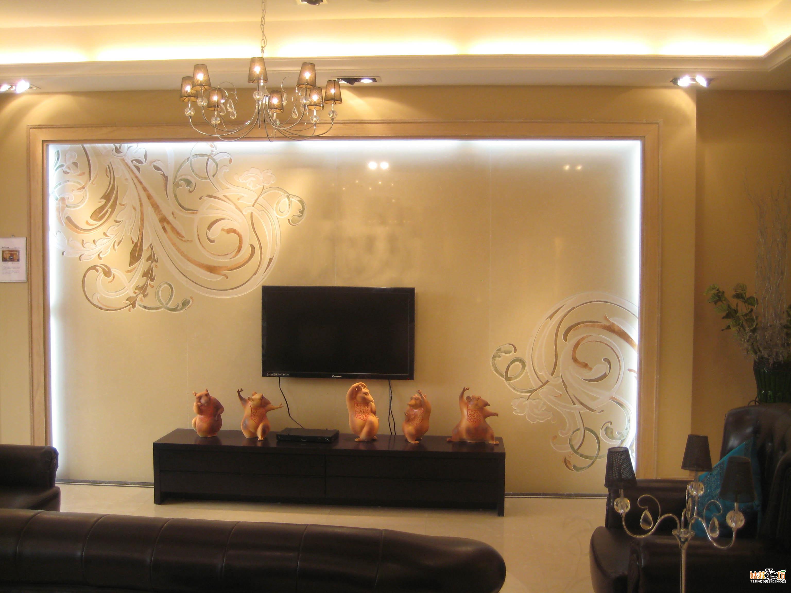 欧式装修瓷砖背景墙