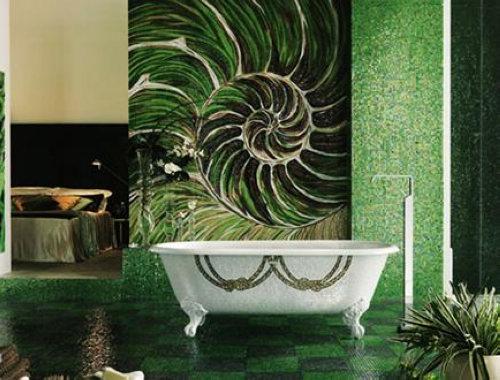 创意卫生间装修图片 巧用马赛克打造情趣空间