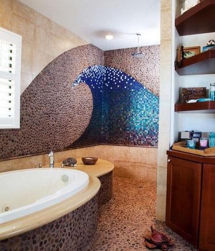 卫生间装修效果图 马赛克瓷砖妙用为空间加分-365
