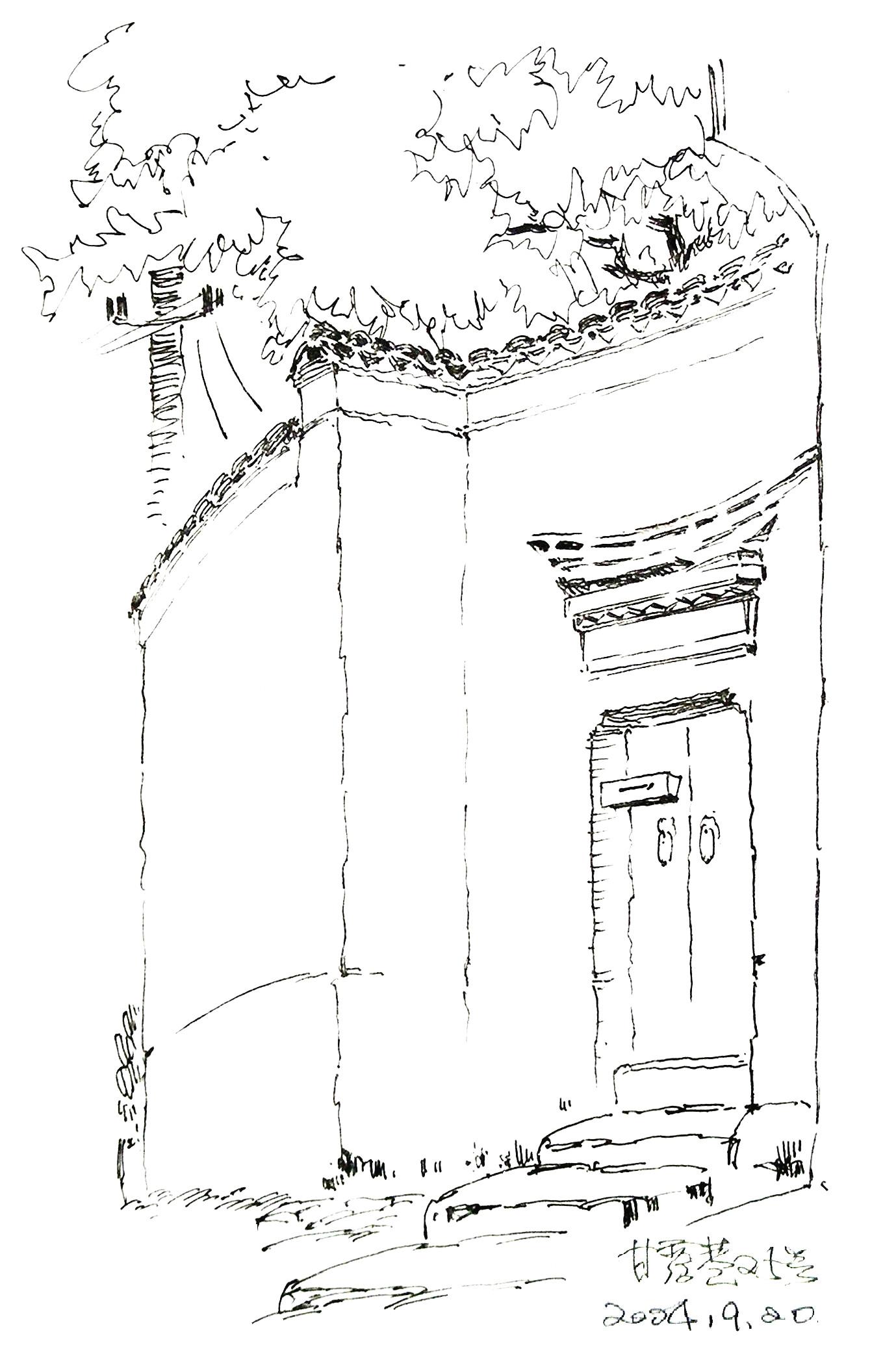 门框装饰手绘图