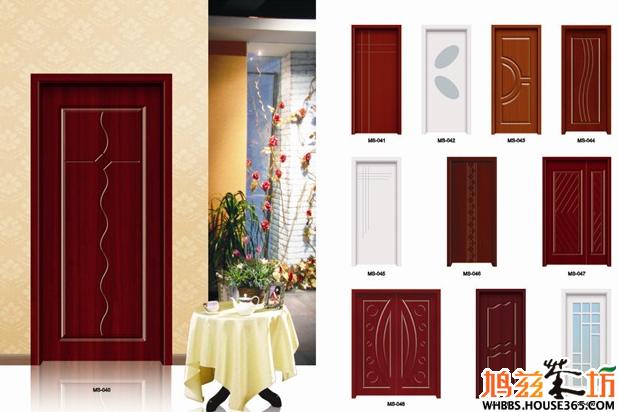 这两款黑胡桃色卧室门效果图哪个好看?