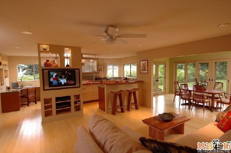 2013年厨房客厅隔断效果图大全