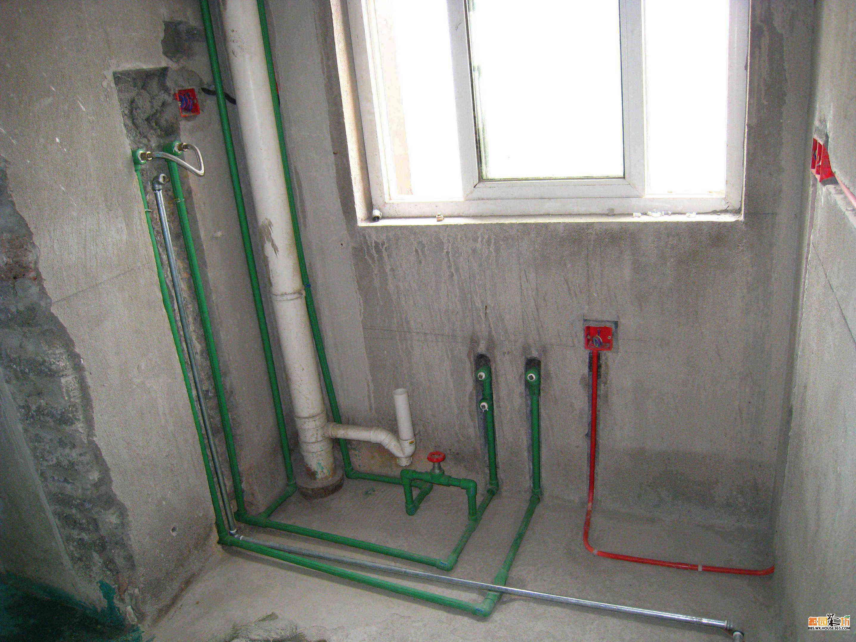 厨房水管和煤气管 绿地的家装修之路