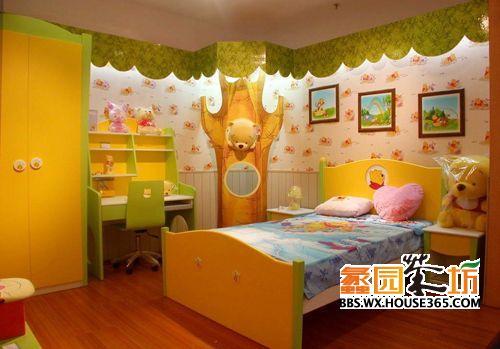 儿童房家具,到处都是小熊维尼的图案