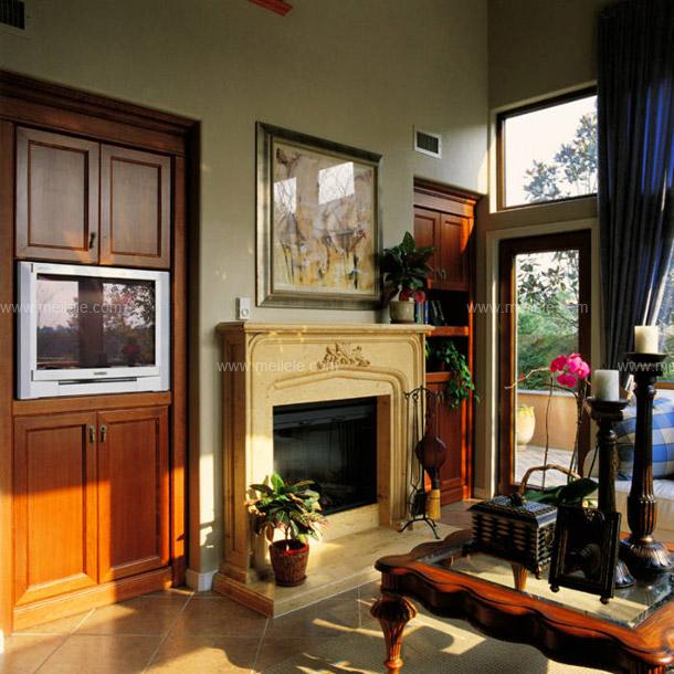 欧式电视机背景墙 简单大方的设计装饰(图)