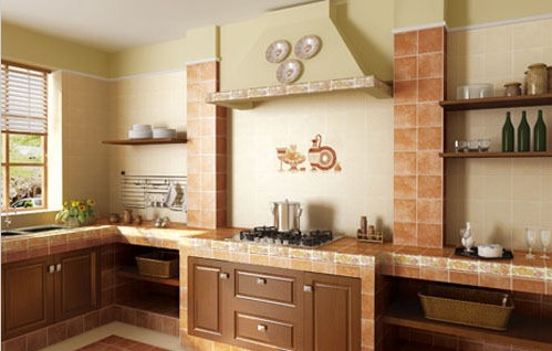 厨房地板砖效果图 幸福的生活很简单(图)