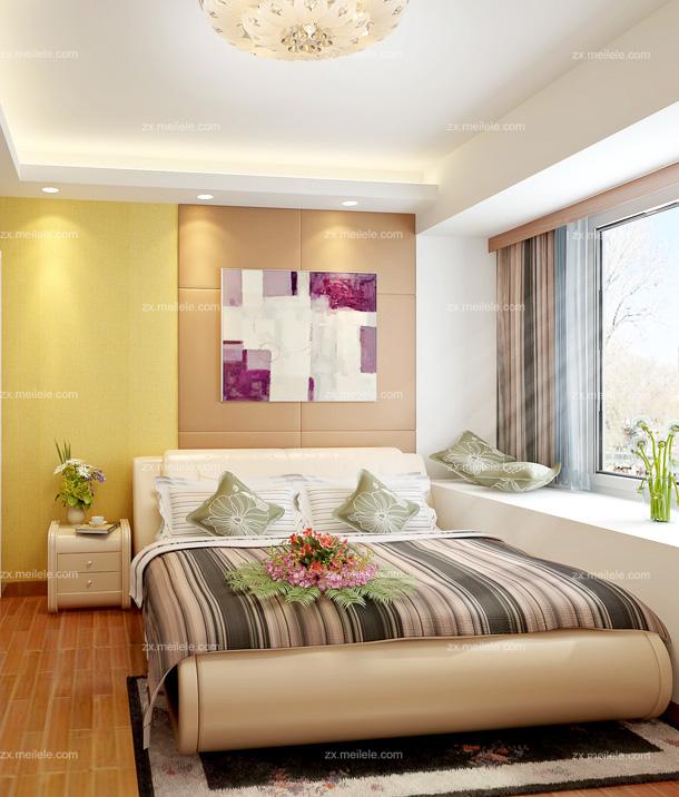 欧式卧室乳胶漆颜色效果图