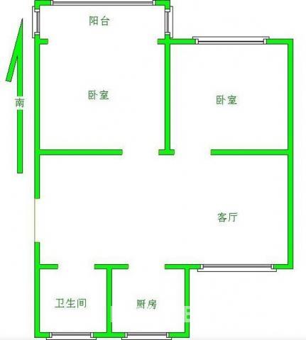 叙丰家园 2室 2厅 95万元 1卫 95平方