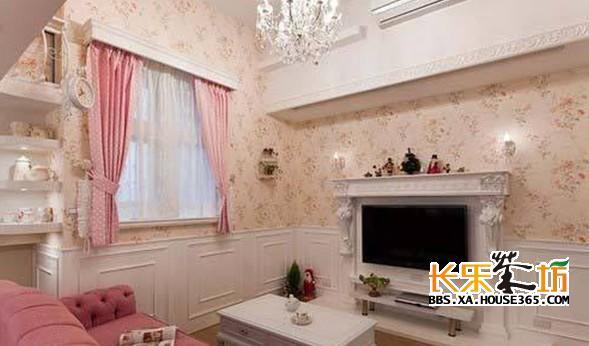 复式装修样板房之浪漫粉红色婚房 高清图片